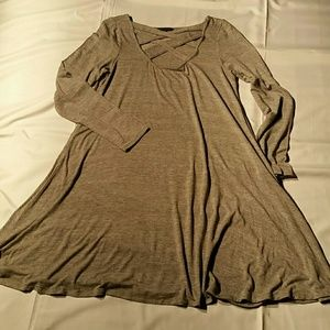 NWOT. American Eagle Outfitters Gray Dress. L